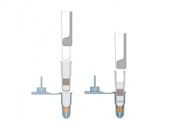Attach g capsule to pipettor-2